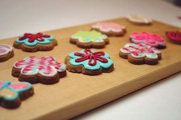 a selection of decorated biscuits